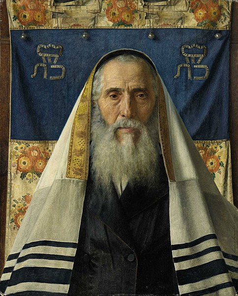 Archivo:Isidor Kaufmann Rabbi with prayer shawl.jpg