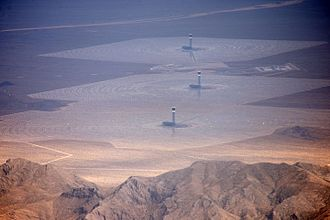 Bureau of Land Management - Aerial photograph of Ivanpah Solar Power Facility located on BLM-managed land in the Mojave Desert