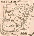 Jérusalem. La Palestine, pour l'Histoire des empereurs romains de M. Crévier. 1750.jpg