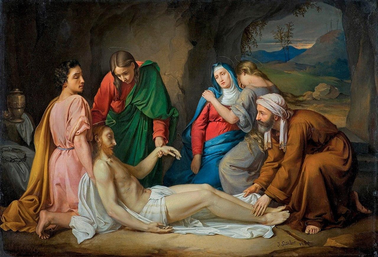 Юзеф Зиммлер - Złożenie do grobu 1852.jpg
