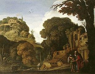 Landschap met de verstoting van Hagar