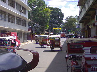 Basilan - Catholic north/northwest: J. S. Alano Street, one of the main thoroughfares of Isabela City, connecting Sta. Isabel Cathedral with the Isabela City Plaza/Plaza Rizal and the Provincial Capitol.