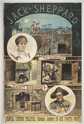 Jack Sheppard - Poster for the play Jack Sheppard performed at the Royal Lyceum Theatre