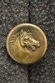 Jacka, detaljbild på knapp. Karl XV - Livrustkammaren - 86139.tif