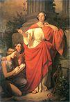 Jadwiga Łuszczewska als Diotima auf einem Gemälde des polnischen Malers Józef Simmler von 1855
