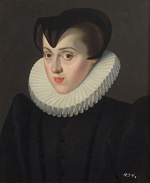Elisabeth of Austria, Queen of France - Elisabeth in widow's clothes. Painting by Jakob de Monte, ca. 1580.