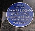 James Logan plaque, Lurgan - geograph.org.uk - 1528995.jpg