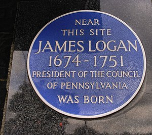 James Logan (statesman) - James Logan plaque, Lurgan, Northern Ireland