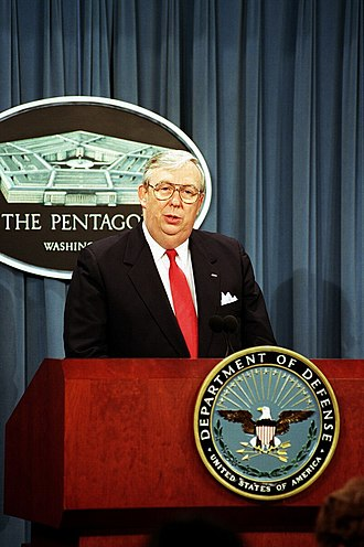 James G. Roche - Roche at a Pentagon briefing.