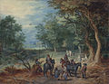 Jan Brueghel (I) - Guards in a Forest Clearing - WGA03561.jpg
