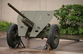 Type 1 47 mm anti-tank gun - Type 1 47 mm anti-tank gun at the U.S. Army Museum in Honolulu, Hawaii