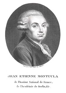 Jean-Étienne Montucla French mathematician