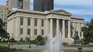 Jefferson County Courthouse in Louisville, gelistet im NRHP Nr. 72000537[1]