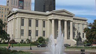Louisville Metro Hall - Front of the courthouse