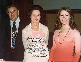 Jerry Siegel - Siegel with his wife Joanne and daughter Laura in 1976