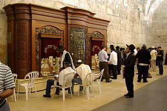 Wilson's Arch (Jerusalem) - Torah Ark inside men's section of Wilson's Arch.