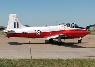 RAF Finningley - A Jet Provost flight training aircraft