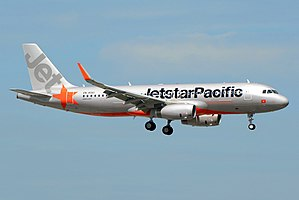Jetstar Pacific - Jetstar Pacific new livery applied on an Airbus A320 with Sharklets equipped.