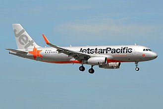 Jetstar Pacific - Jetstar Pacific new livery applied on an Airbus A320 with Sharklets equipped