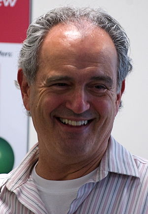 Jim Braude - Braude at a live radio broadcast event in Brookline, Massachusetts in May 2010