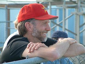 John Luther Adams - John Luther Adams watching a baseball game.