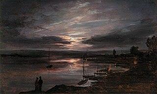 The Elbe in Moonlight