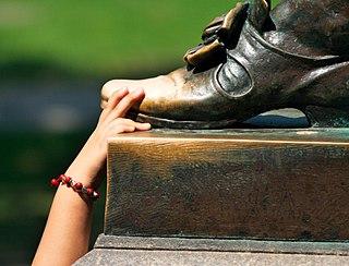 Statue rubbing
