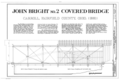 John Bridge No. 2 Covered Bridge, Title Sheet - John Bright No. 2 Covered Bridge, Bish Road (Township Route 263) over Poplar Creek, Carroll, Fairfield County, OH HAER OHIO,23-CAR.V,2- (sheet 1 of 5).png