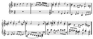 "Walsingham (music) - The ""Walsingham"" theme, as arranged for keyboard by John Bull"