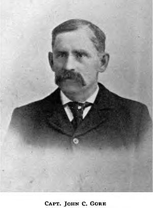 Columbia (Arrow Lakes sternwheeler) - John C. Gore, captain of Columbia