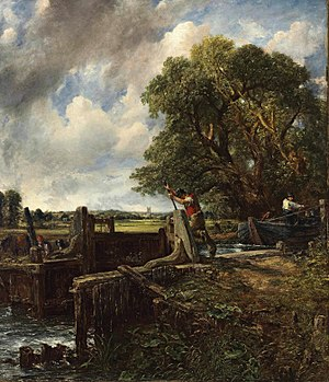 The Lock (Constable) - Image: John Constable A Boat Passing a Lock