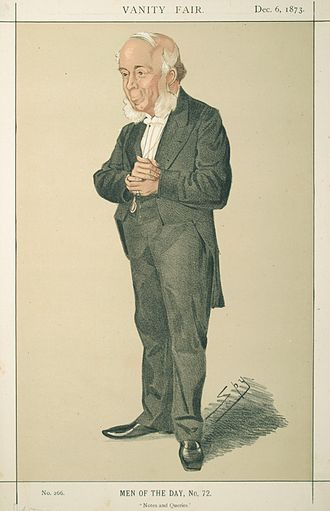 "John Doran (writer) - ""Notes and Queries"" Doran as caricatured by Spy (Leslie Ward) in Vanity Fair, December 1873"