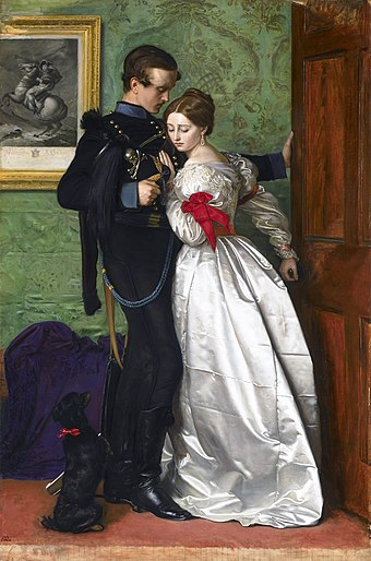 The Black Brunswicker (1860) John Everett Millais The Black Brunswicker.jpg