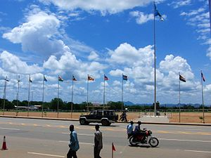 John Garang Mausoleum Square in Juba