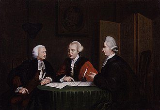 John Horne Tooke - A portrait of John Horne Tooke (right) in discussion with John Glynn and John Wilkes.