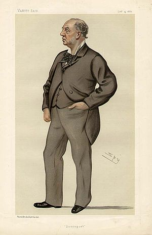 "John Henry Puleston - ""Devonport"" Puleston as caricatured by Spy (Leslie Ward) in Vanity Fair, October 1882"