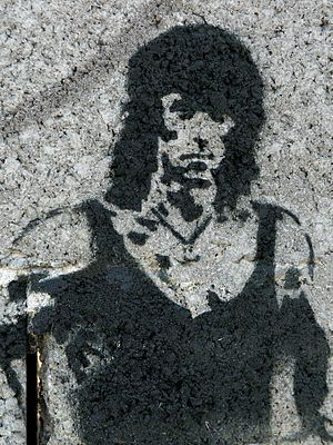English: John Rambo graffiti.