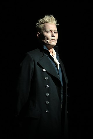 Depp in character as Gellert Grindelwald at the 2018 San Diego Comic-Con promoting Fantastic Beasts: The Crimes of Grindelwald.