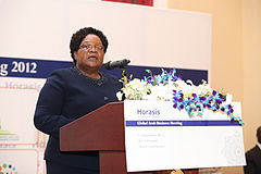 Joice Mujuru at Horasis Global Arab Business Meeting 2012.jpg