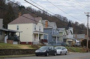 South Heights, Pennsylvania - Houses on Jordan Street