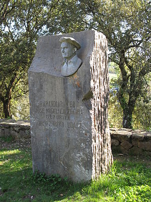 Jose Migel Barandiaran - The Barandiaran memorial at the Santimamiñe cave.