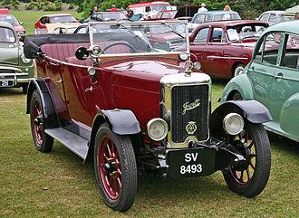 Jowett Cars - Jowett Seven Long Tourer 1929 example