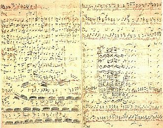 St Matthew Passion - Fair copy in Bach's own hand of the revised version of the St Matthew Passion BWV 244 that is generally dated to the year 1743–46