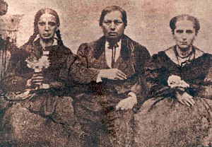 Benito Juárez - Juárez with his sister Nela (left) and wife Margarita.