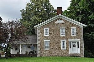John Graves Cobblestone Farmhouse - Image: Junius NY John Graves Cobblestone House