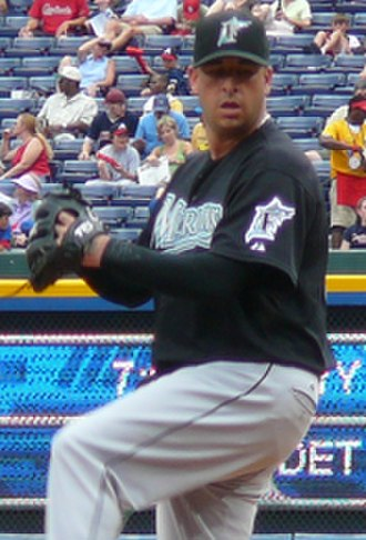 Justin Miller (baseball, born 1977) - Miller with the Florida Marlins in 2007