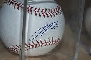 Justin Verlander autographed baseball