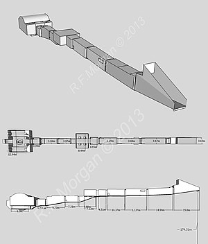 KV9 - Isometric, plan and elevation images of KV9 taken from a 3d model
