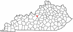 Location of Lebanon Junction, Kentucky