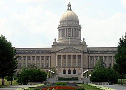 The Kentucky State Capitol is one of 45 sites in Frankfort listed on the National Register of Historic Places